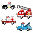 Emergency vehicles — Stock Vector