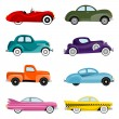 Old cars vector — Stock Vector #6902951