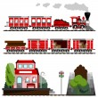 Train  set — Stock Vector