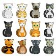Royalty-Free Stock Vector Image: Cute cats