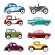 Stock Vector: Old cars