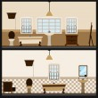 Interior bathroom design - Stock Vector