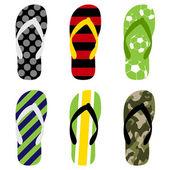 Plážové sandály — Stock vektor