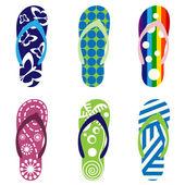 Sandales de plage — Vecteur