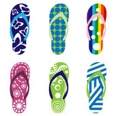 Sandálias de praia — Vetorial Stock