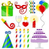 Birthday elements — Stock Vector