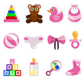 Baby object icons — Stock Vector