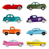 Old cars vector — Stock Vector