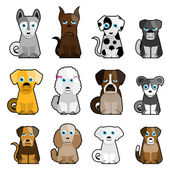 Cute dogs — Stock Vector