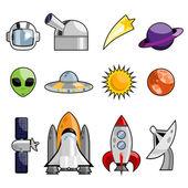 Space icon — Stock Vector