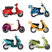 Jeu de scooter — Vecteur