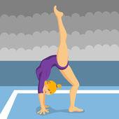 Gymnast girl — Stock Vector