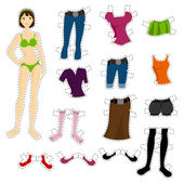 Wear to doll — Stock Vector