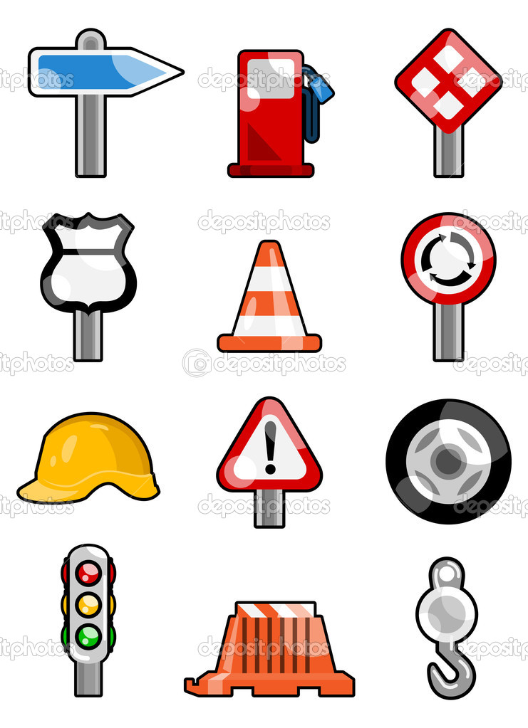 Set mof traffic icons  — Stock Vector #6902925