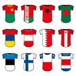 National soccer uniforms - Stock Vector