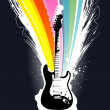 Abstract colorful explosion guitar — Stock Vector