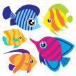 Tropical fish set — Stock Vector #6965582