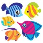 Tropical fish set — Stock Vector #6965582