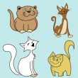 Royalty-Free Stock Vector Image: Cartoon cats