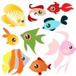 Tropical fish set — Stock Vector #6965594