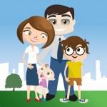 Happy family — Stock Vector #6965613