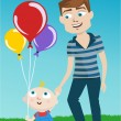 Father and kid - Stock Vector