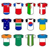 Uniformi della nazionale di calcio — Vettoriale Stock