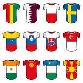 National soccer uniforms — Stock Vector