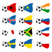 National soccer flags — Stock Vector