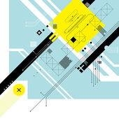 Futuristic digital background — Stock Vector