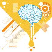 Abstract brain illustration — Stock Vector