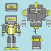 Music style futurist robot — Stock Vector