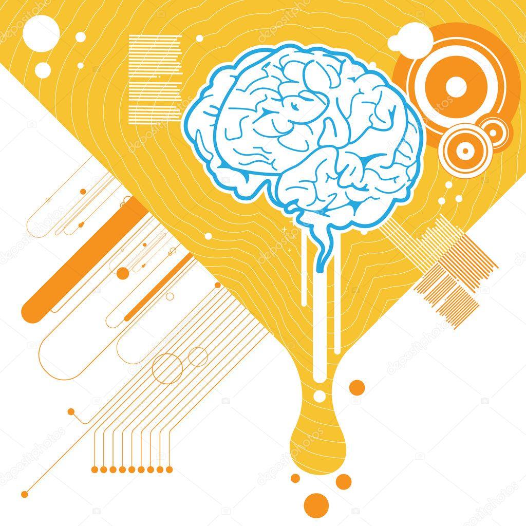 brain illustration typography wallpaper - photo #23