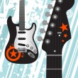 Stock Vector: Guitar background
