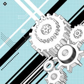 Mechanische technische tekeningen — Stockvector