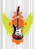 Gitara tło — Wektor stockowy