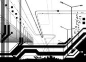 Architectural modern design — Stock Vector