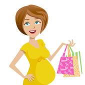 Hamile kadın — Stok Vektör