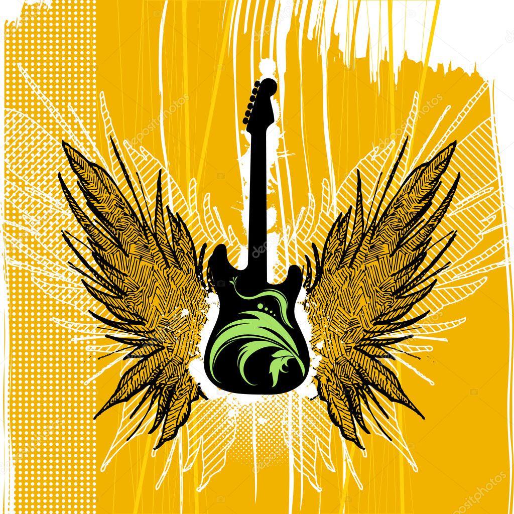 Guitar Illustration Stock Vector 169 Rocket400 7031555