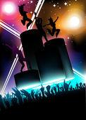 Night concert — Stock Vector