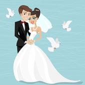 Marrying illustration — Stock Vector