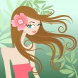 Vector de stock : Pretty girl