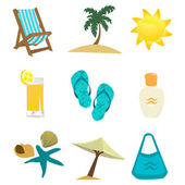 Summer time icon — Stok Vektör