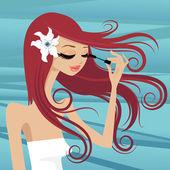 Woman make up — Stock Vector