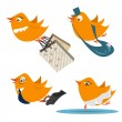 Cute birds vector — Stock Vector #7323813