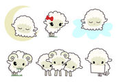 Little sheeps — Stock Vector
