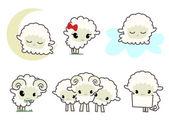 Lilla fåren — Stockvektor