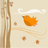 Flying bird vector — Stock Vector