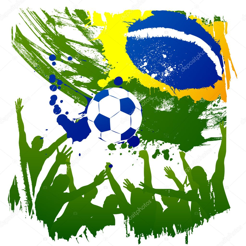 Worldcup brazil background World Cup 2014 Vector