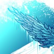 Stock Vector: Icy wing